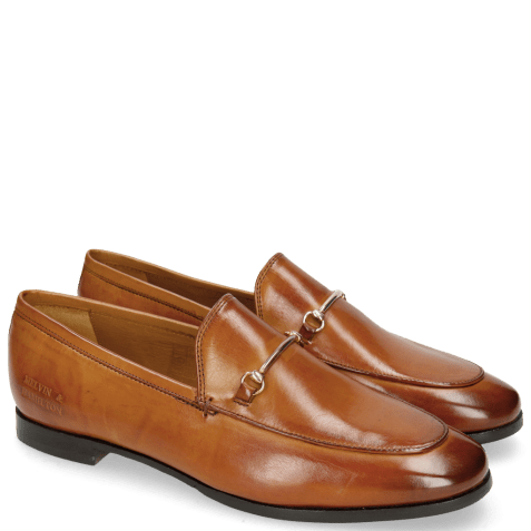 Mocassins Scarlett 1 Tan Trim Gold RS Brown