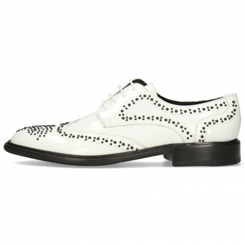 Derbies Sally 53 Patent White Rivets