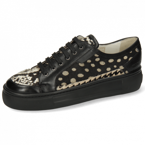 Sneakers Amber 2 Imola Black Hairon Snake Dots