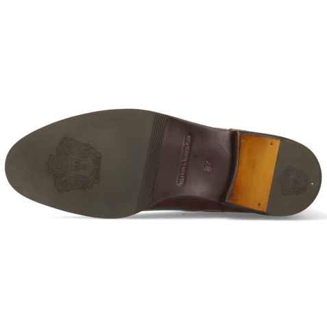 Bottines Susan 69 Turtle Dark Brown Textile Brina Mokka