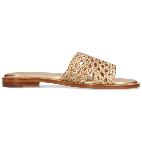 Mules Elodie 20 Mignon Open Woven Rose Gold