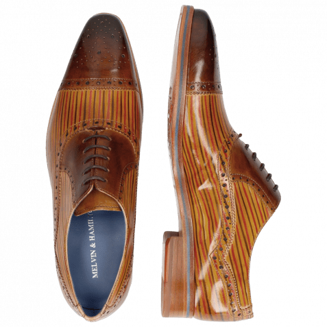 Richelieu Lewis 36 Tan Sand Lines Dark Brown