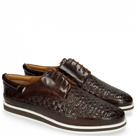 Sneakers Harry 1 Mid Brown Woven Lining Rich Tan