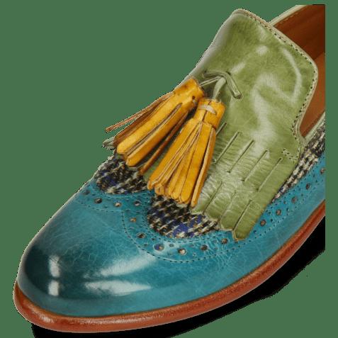 Mocassins Selina 3 Turquoise New Grass Textile Bambino