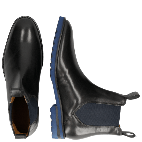 Bottines Eddy 27 Crock Black Strap Embrodery