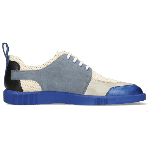 Sneakers Newton 14 Vegas Electric Blue Oxygen Imola Perfo White Suede Pattini Fante