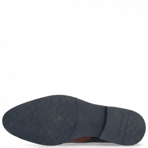 Derbies Victor 9 Venice Croco Mid Brown Suede Textile