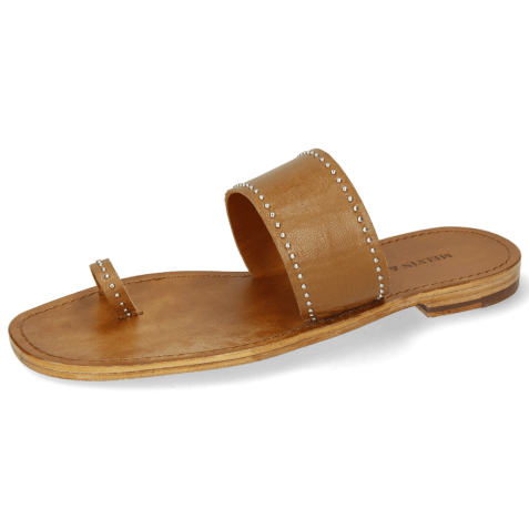 Mules Elodie 19 Salerno Tan Rivets