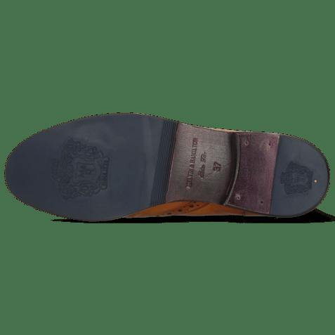 Bottines Amelie 5 Tan Elastic Navy Lining