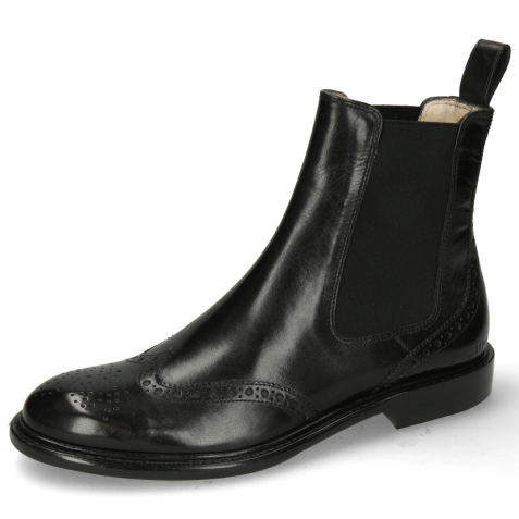Bottines Sally 112 Black Elastic Black Lining
