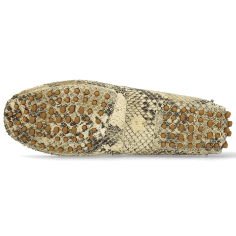 Mocassins Caroline 1 Snake Print Platin Natural Thread