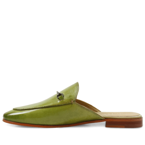 Mules Scarlett 4 Crust Mid Green LS Natural