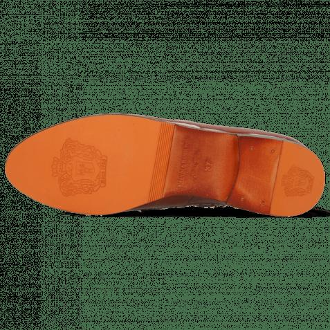 Mocassins Selina 3 Imola Rust Textile Pixel Orange