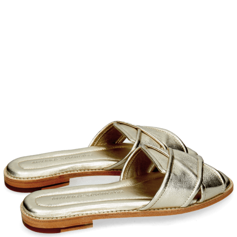Mules Elodie 14 Talca Platin Without Welt