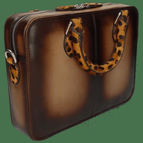 Sacs à main Vancouver Taupe Shade Dark Brown Hairon Jaguar