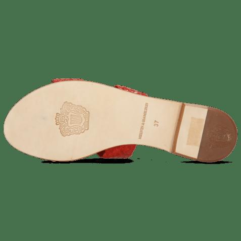 Mules Hanna 74 Woven Red Socks Foam
