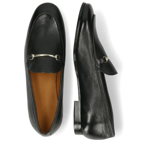 Mocassins Scarlett 22 Pisa Black Trim Gold Lining
