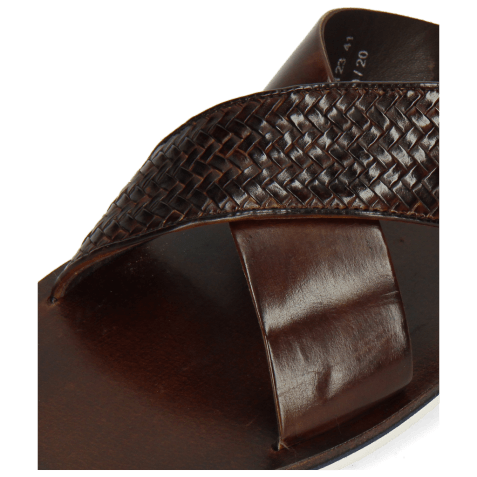 Mules Sam 23 Woven Mid Brown