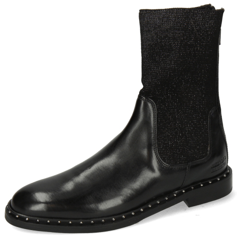 Bottines Susan 69 Black Stefy Black Silver