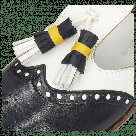 Monks Jessy 52 Nappa Glove Deep Navy White