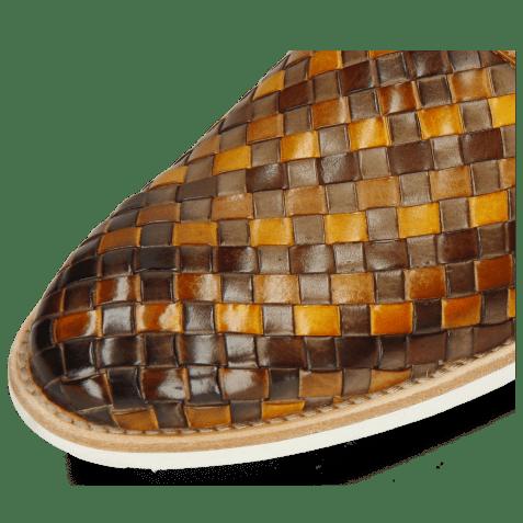 Derbies Brad 1 Woven Vegas Chestnut Ocra Sabbia Mid Brown