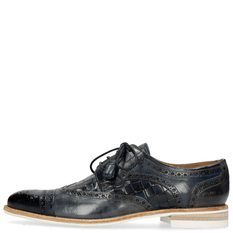 Derbies Henry 7 Navy Wind Sky Blue Woven