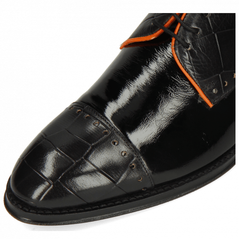 Derbies Kane 30 Turtle Black Soft Patent Orange