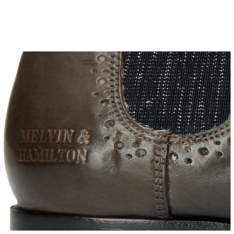 Bottines Sally 16 Grigio Elastic Glitter Navy