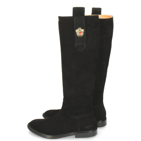 Bottes Sally 63 Suede Black Embrodery New HRS Thick
