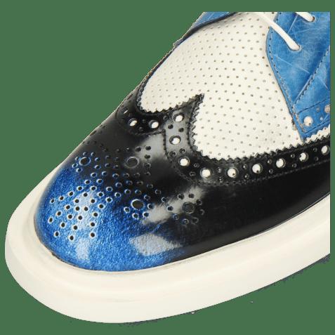 Derbies Ron 2 Brush Off Multi Blue Perfo White Turtle Mid Blue