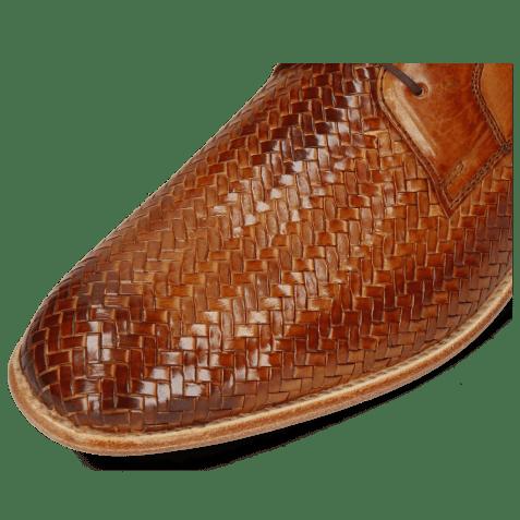 Derbies Eddy 8 Woven Haring Bone Tan
