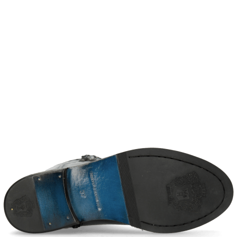 Bottes Sally 61 Rio Black Textile Spark Rivets Welt