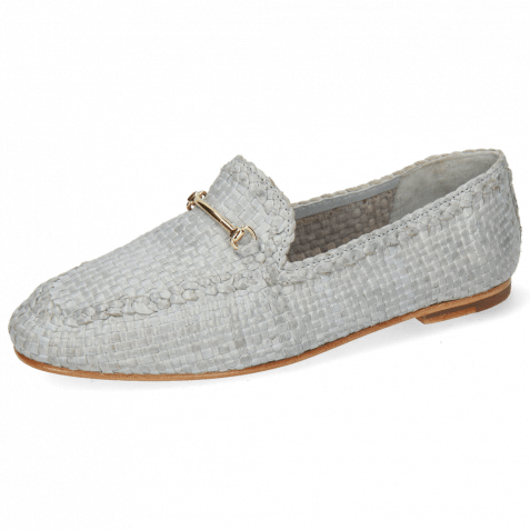 Mocassins Aviana 1 Woven Sky Trim Gold