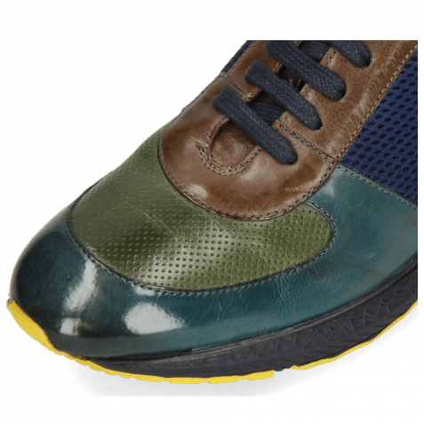 Sneakers Blair 12 Pisa Ice Lake Perfo Prato Chestnut Stretch Net Navy