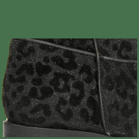 Bottines Marlin 31 Leo Glitter Black Binding Nappa Black