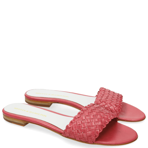Mules Hanna 26 Woven Hot Pink White