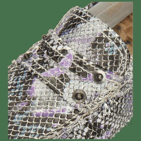 Mocassins Caroline 1 Snake Multi Turquoise