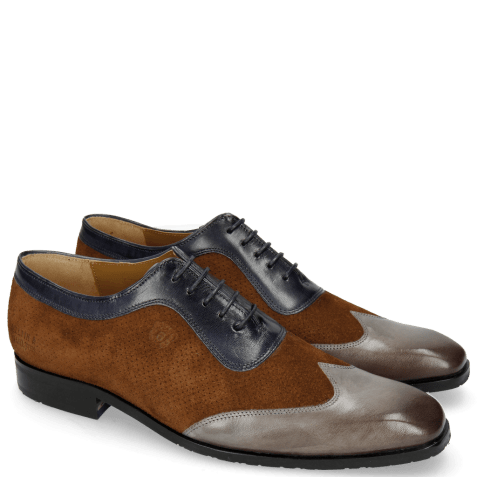 Richelieu Rico 8 Rio Stone Ciliago Suede Touch Perfo Navy