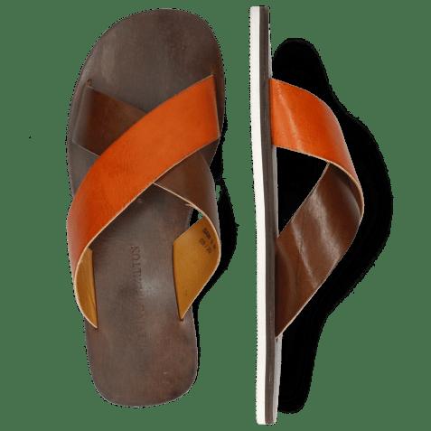 Mules Sam 5 Imola Dark Chocolate Arancio