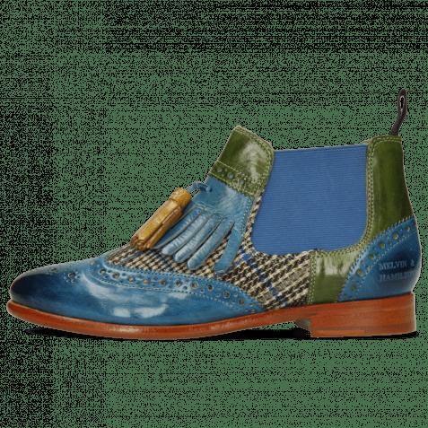 Bottines Selina 5 Bluette Textile Bambino Ultra Green