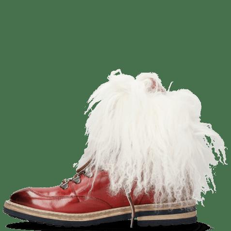 Bottines Amelie 73 Ruby Fur Mongolian White