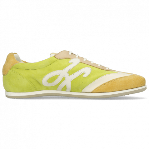 Sneakers Pearl 4 Chrome Suede Yellow Cream New Grass