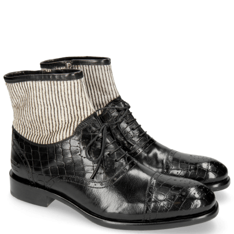 Bottines Patrick 4 Crock Black Hairon Stripes
