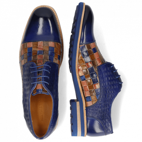 Derbies Eddy 11 Woven Multi Little Croco Midnight