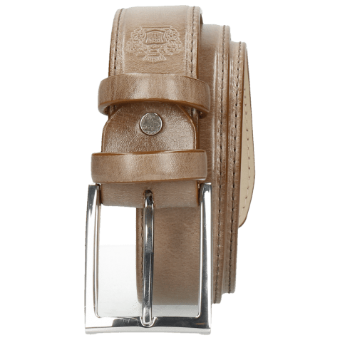 Ceintures Larry 1 Light Grey Classic Buckle