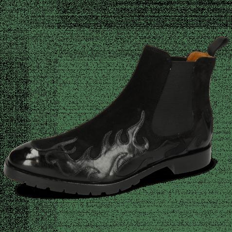 Bottines Tom 29 Flame Black Suede Pattini Black