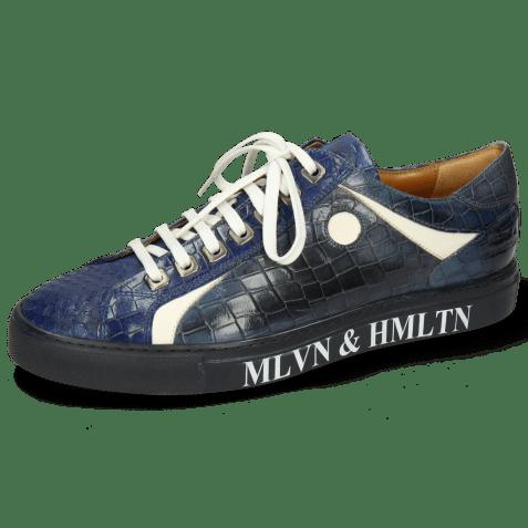 Sneakers Harvey 9 Snake Electric Blue Vegas White
