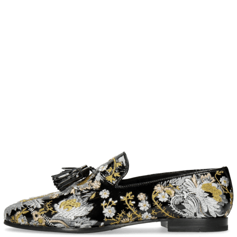 Mocassins Clive 6 Soft Patent Oriental Embrodery Multi