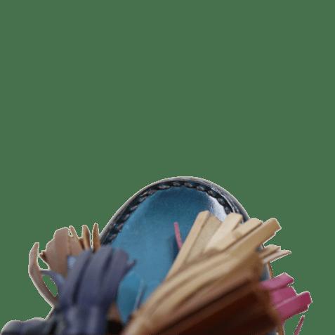 Mules Bea 5 Turquoise Tassel Multi LS Natural