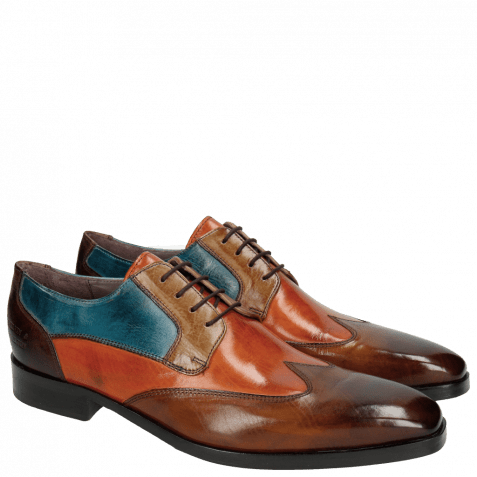 Derbies Lance 9 Wood Orange Tortora Bluette Dark Brown HRS